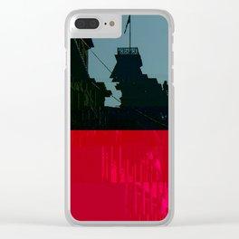 Trieste Glitch 01 Clear iPhone Case
