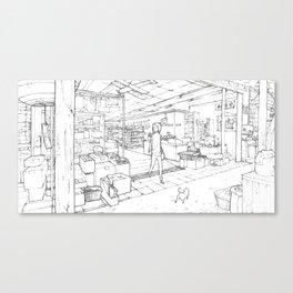 Little Cat's Journey Canvas Print