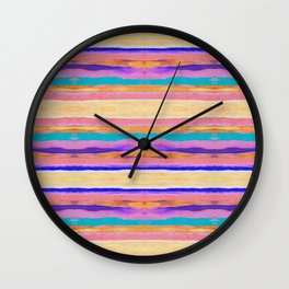 Desert Stripes Wall Clock