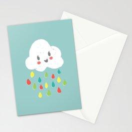 Rainbow Rain - Bright Stationery Cards