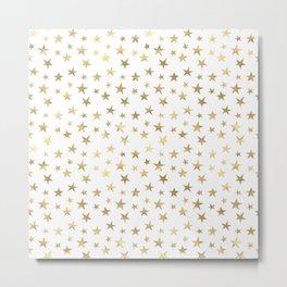 Gold Stars Metal Print