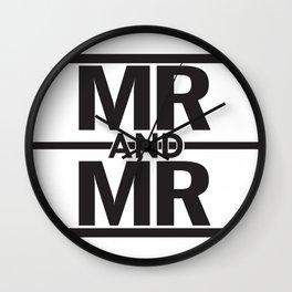 Mr & Mr Wall Clock