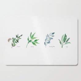 Botanical Herbs and Plants Cutting Board