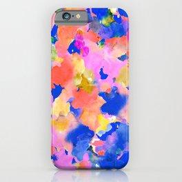 Floral splash iPhone Case