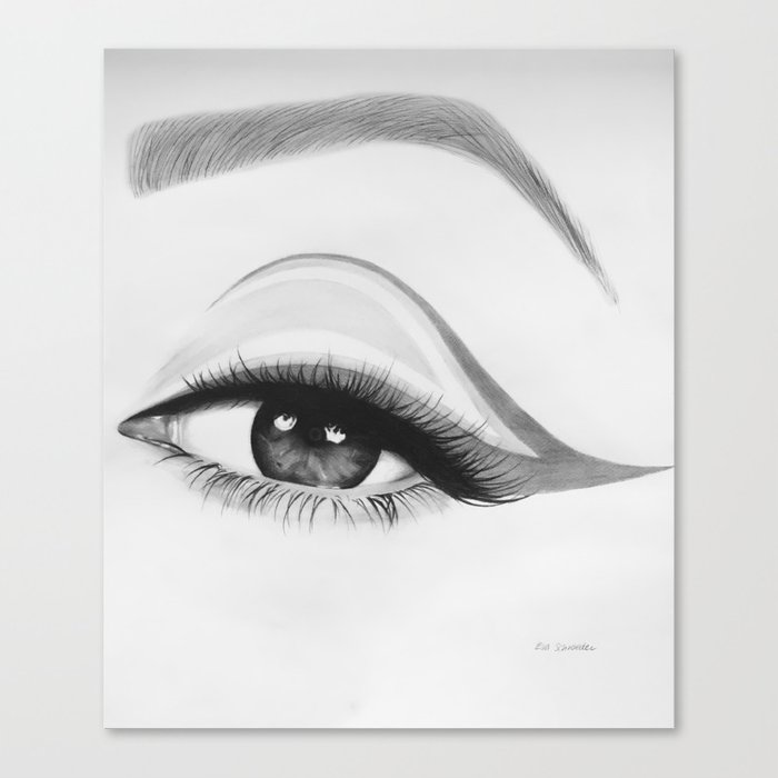 Eye Makeup Canvas Print By Evaschroeder Society6