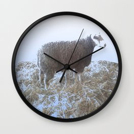 Solitude on straw Wall Clock