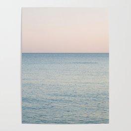 PINK SKY, BLUE SEA, EVENING SWIM Poster