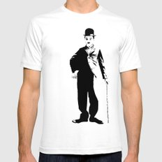 Chaplin 2X-LARGE Mens Fitted Tee White