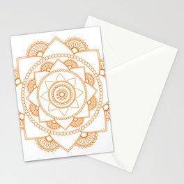 Mandala 01 - Orange on White Stationery Cards