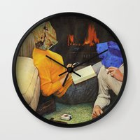 mineral Wall Clocks featuring Mineral Love by Blaz Rojs