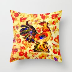 RADIANT ROOSTER - 074 Throw Pillow