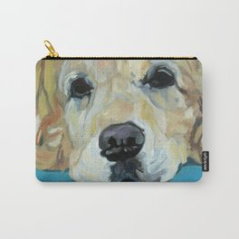 Shiner the Golden Retriever Portrait Carry-All Pouch