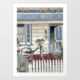 Staying at home Art Print