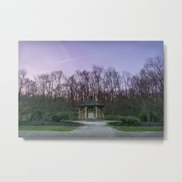 Townsend Park Gazebo Sunset Metal Print