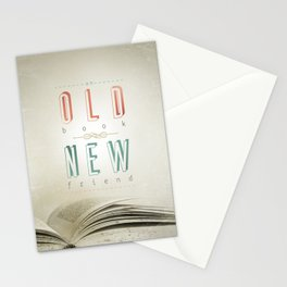 Poster (book & friend) Stationery Cards
