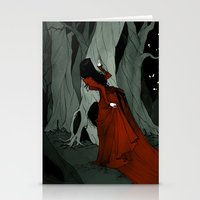 Stationery Cards featuring Snow White Lost in the Woods by Abigail Larson