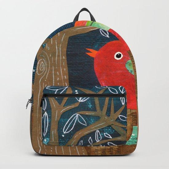 Red Bird in Galoshes by juleneewert