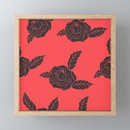 Black rose Framed Mini Art Print