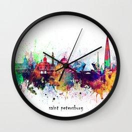 saint petersburg skyline artistic Wall Clock