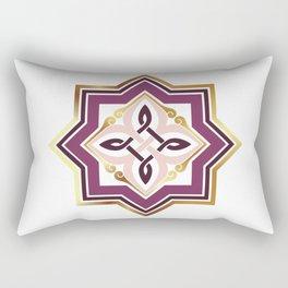 Armenian Genocide Rosette Purple  by Ania Mardrosyan Rectangular Pillow