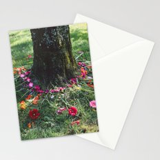 Beautiful Earth in Floral Decor Stationery Cards