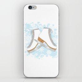 Ice skates iPhone Skin