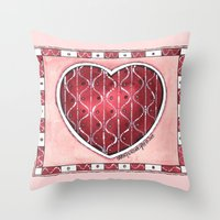 confetti Throw Pillows featuring Confetti by Shelley Ylst Art