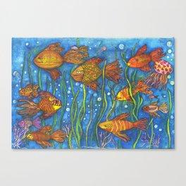 Somethin' Fishy Going on Canvas Print