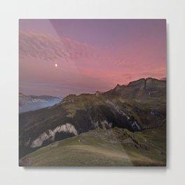 Dawn in Swiss Alps Metal Print