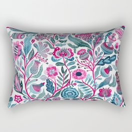 Endlessly growing - pink and turquoise Rectangular Pillow