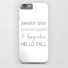 Words of Fall iPhone Case