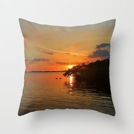 Darkness on the Edge of Light Throw Pillow