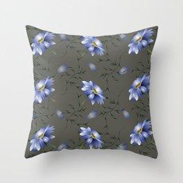 Moon Light Bouquet Throw Pillow