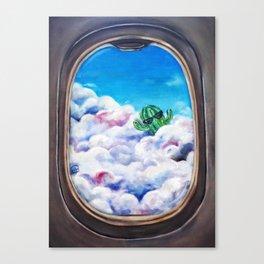 Cloud Surfing Cactus Canvas Print