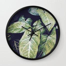 Jungle leaf - vintage Wall Clock
