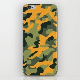 Green & Orange Camo iPhone Skin