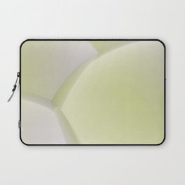 3D abstract sphere yellow background Laptop Sleeve