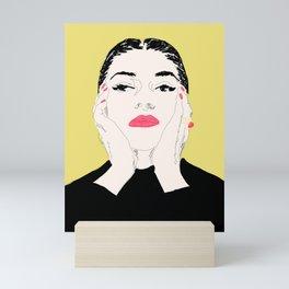 Pop Maria Callas - Yellow Mini Art Print