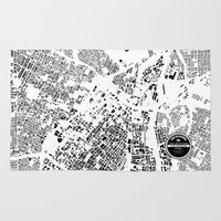 los angeles Area & Throw Rugs featuring LOS ANGELES by Maps Factory