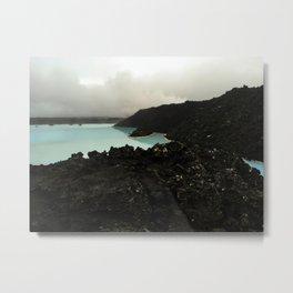 Volcanic Lagoon Metal Print