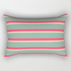 Modern Red Green Pink Ombre Stripes Pattern Rectangular Pillow