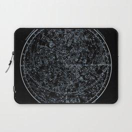 Northern Hemisphere Constellations White Blue Laptop Sleeve