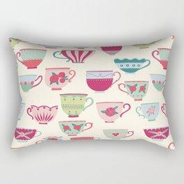 China Teacups Rectangular Pillow