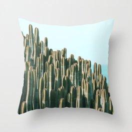 Cactus Ocean Throw Pillow