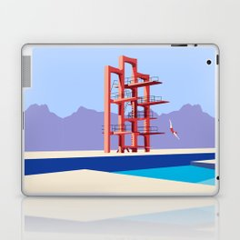 Soviet Modernism: Diving tower in Etchmiadzin, Armenia Laptop & iPad Skin