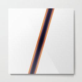 White Stripes Metal Print