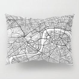 London Map White Pillow Sham