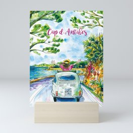 Ready for holidays in Cap d'Antibes ? Mini Art Print