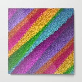 Rainbow colored mosaic pattern digital art Metal Print