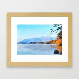 Mountains Behind Derwentwater, Lake District, Cumbria, UK Framed Art Print